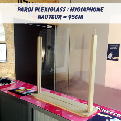 hygiaphone bureau comptoir caisse