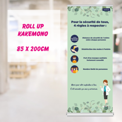 rollup sanitaire covid affichage sanitaire