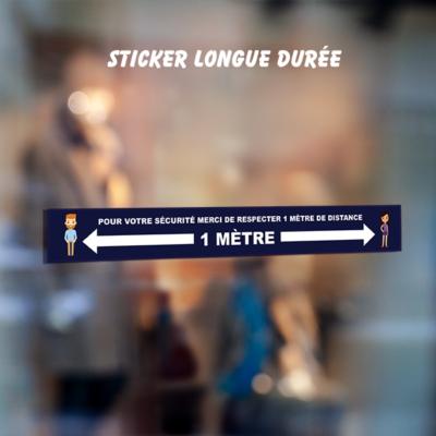 sticker 1m distance covid 19 commerce