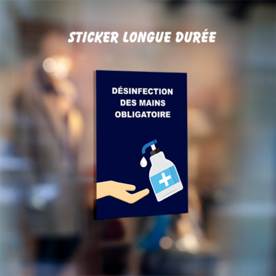 sticker desinfection covid
